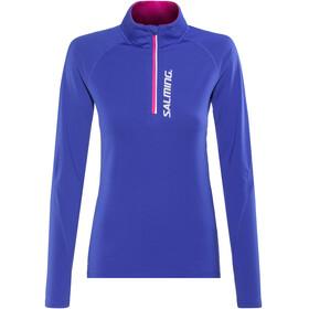 Salming Halfzip LS Tee Koszulka do biegania z długim rękawem Kobiety niebieski